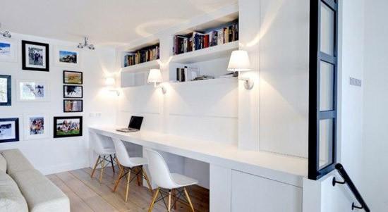 Een mooie werkplek in de woonkamer | Wooninspiratie