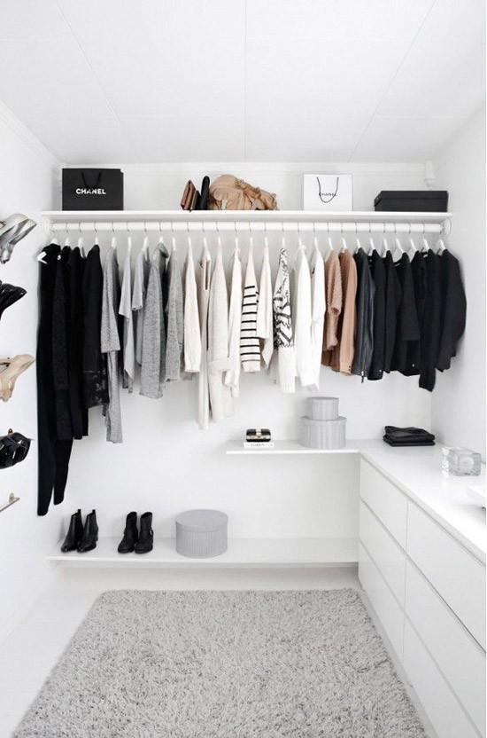 een open kledingkast in de slaapkamer ideeen | wooninspiratie, Deco ideeën