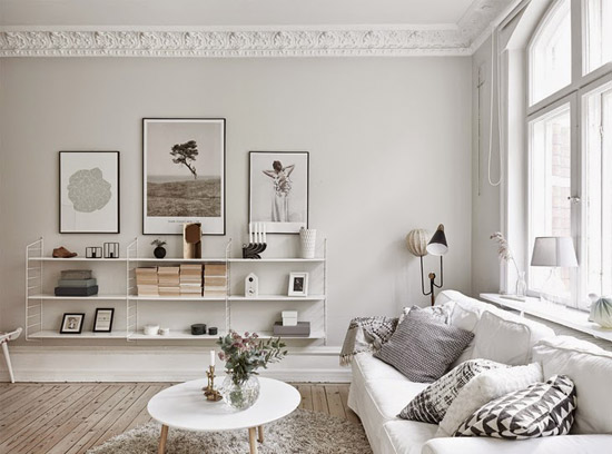 Een prachtige witte woonkamer inrichting | Wooninspiratie