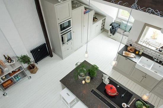 Een prachtige zolder appartement