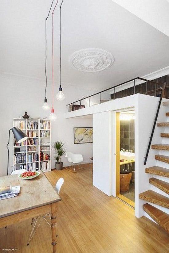 Een vide voor een kleine ruimte wooninspiratie - Rechteckiges zimmer einrichten ...