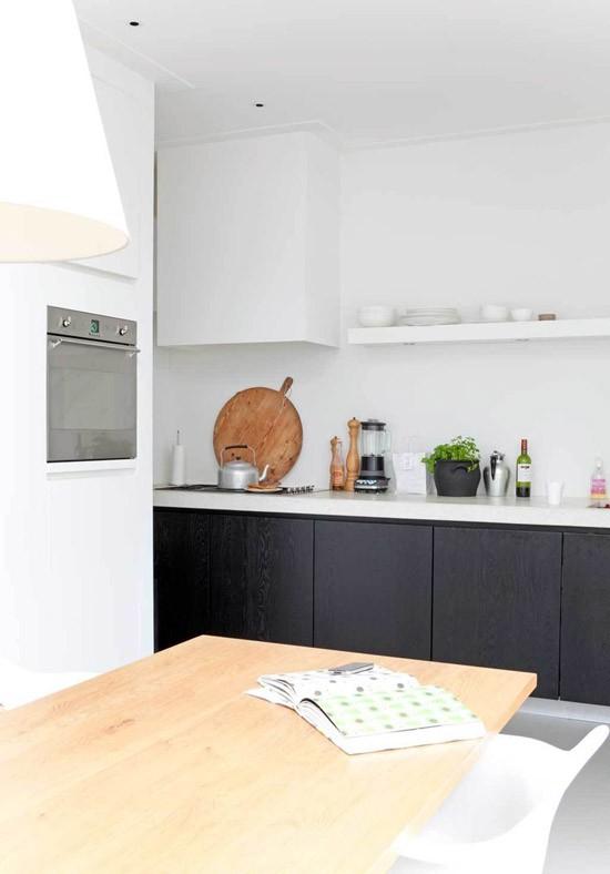 Witte keuken met grijs werkblad witte keuken grijze vloer de basis is neutraal met wanden - Witte keuken met zwart werkblad ...
