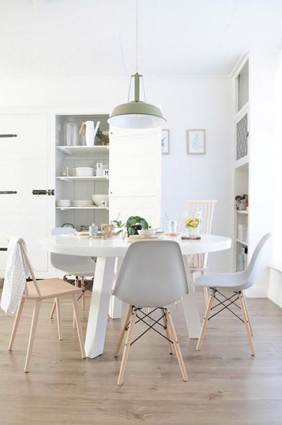 Eettafel stoelen wooninspiratie - Tafel eetkamer hout wit ...