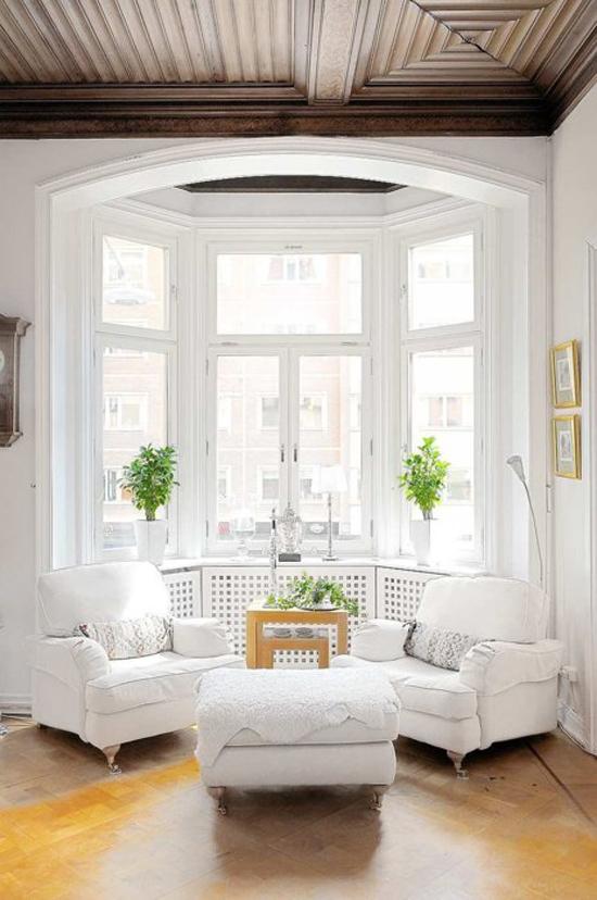 woonkamer met een erker  wooninspiratie, Meubels Ideeën