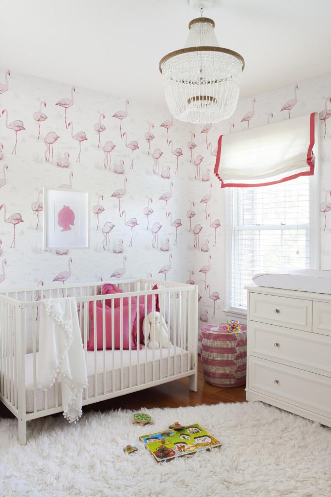 flamingo behang kinderkamer