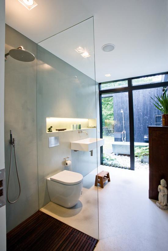 Gestucte muren in de badkamer | Wooninspiratie
