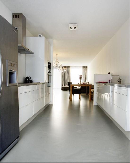 Gietvloer Voor Keuken : een gietvloer kan op bijna elk ander soort vloer worden aangebracht