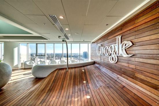 Inrichting van Google kantoor in Tel Aviv