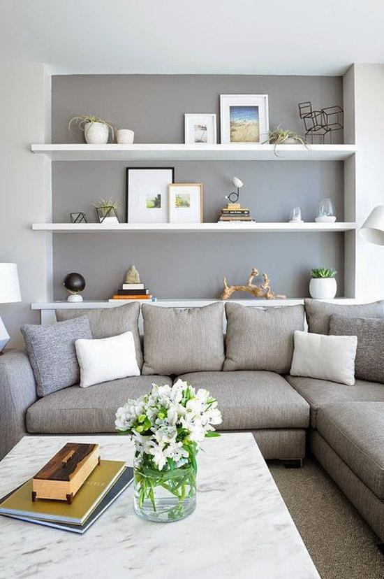 woonkamer muur grijs  smeley, Meubels Ideeën