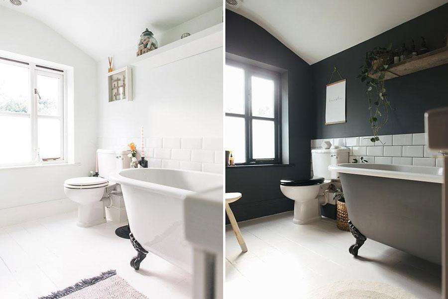grijze muur badkamer