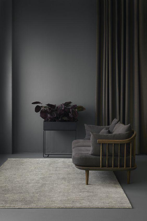grijze muur en interieur
