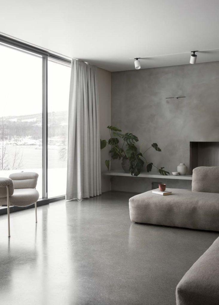 grijze muur en vloer