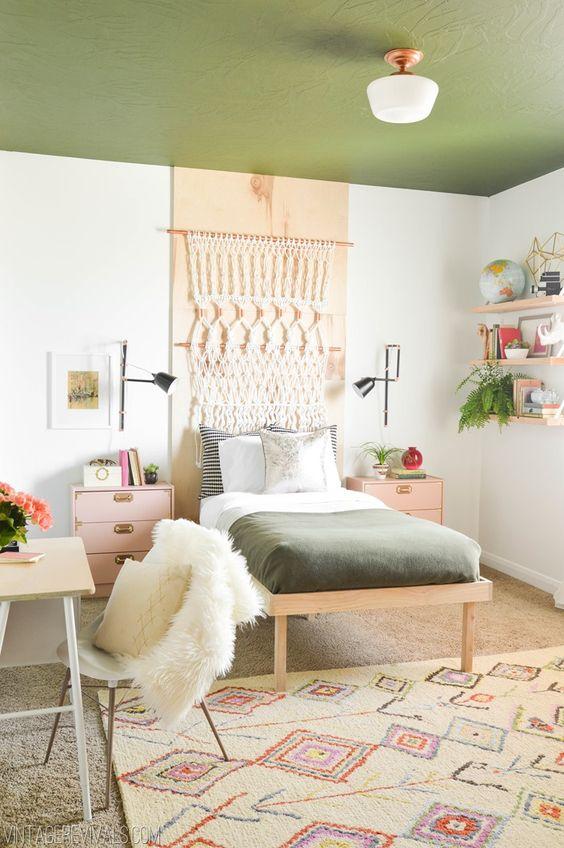 groen interieur groen plafond