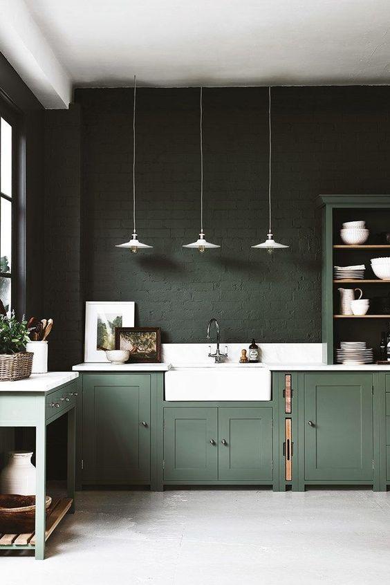 groen interieur groene keuken