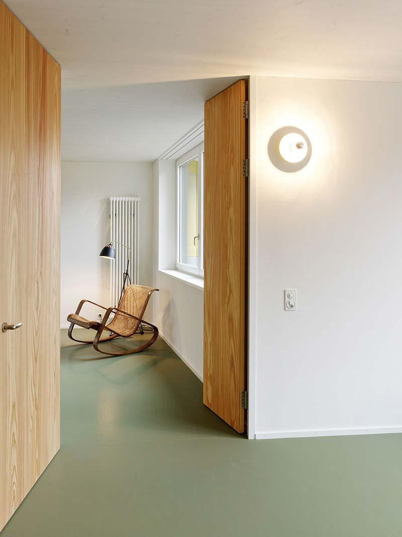 groen interieur groene vloer
