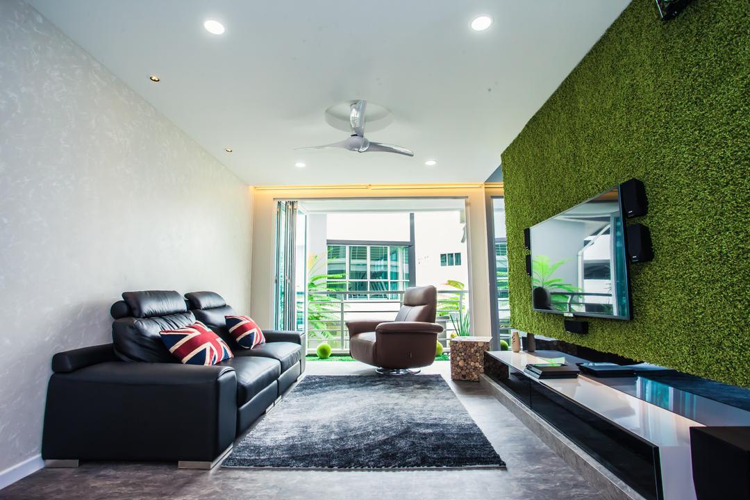 groen interieur kunstgras muur