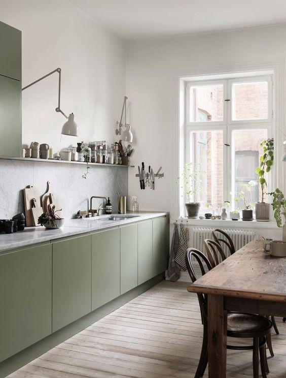 groene keuken groen interieur