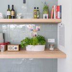 Groene tegels in de keuken
