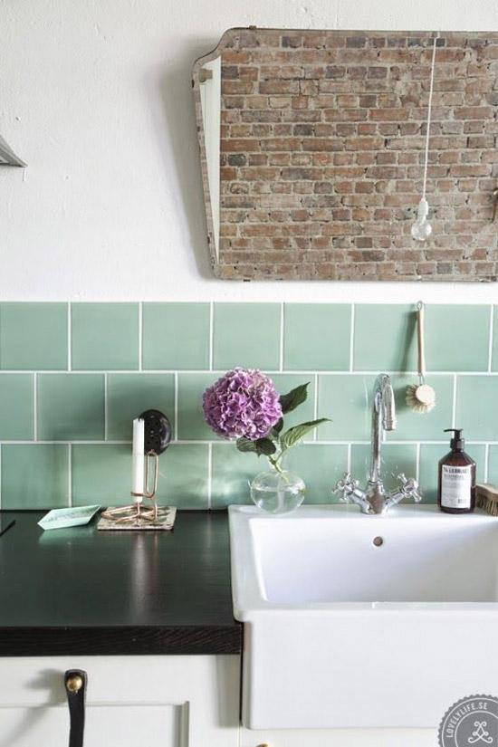 Groene Tegels Keuken : Groene tegels in de keuken Wooninspiratie