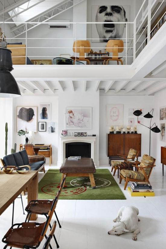 Inrichting van grote woonkamers