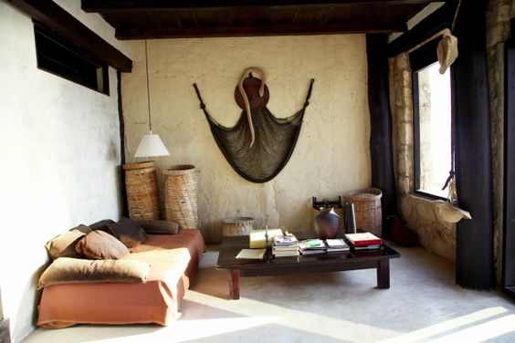 Hangmat als muurdecoratie