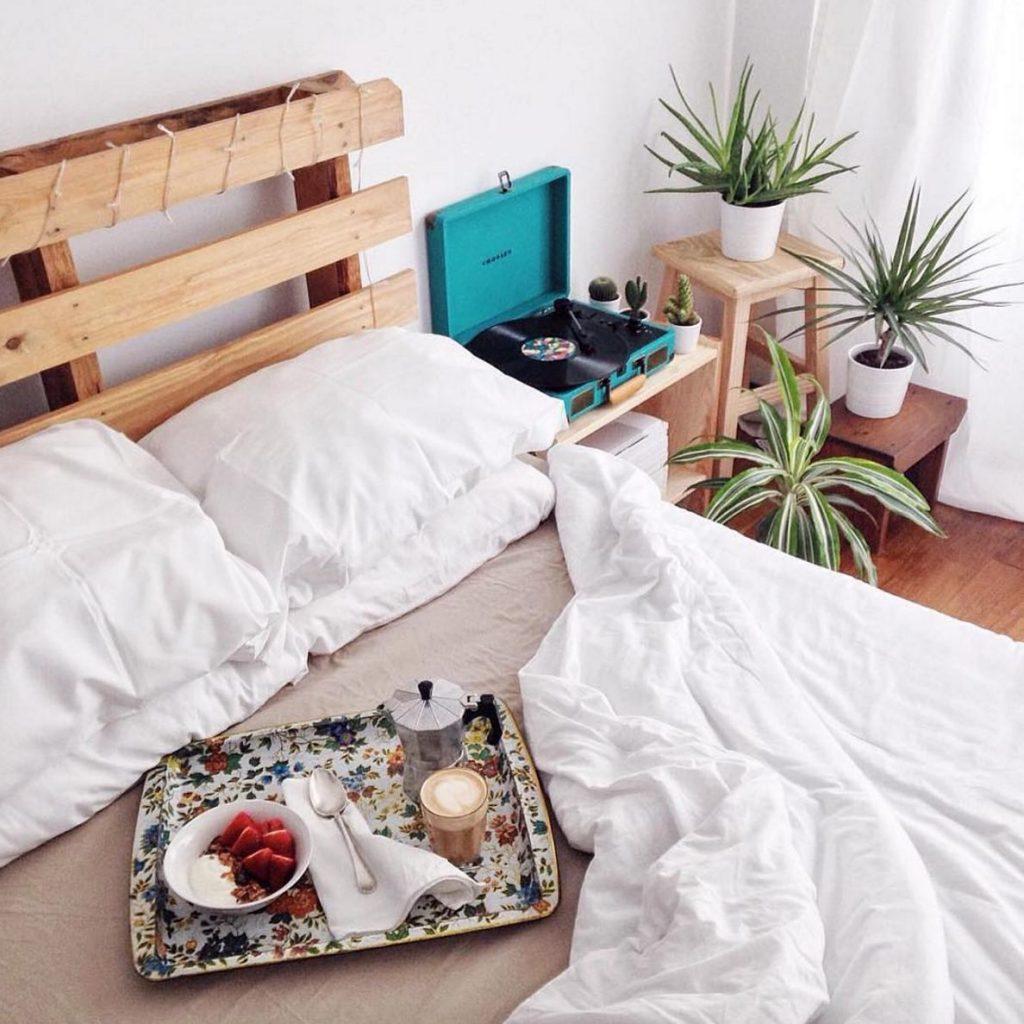 Hoofdbord ideeën houten paletten