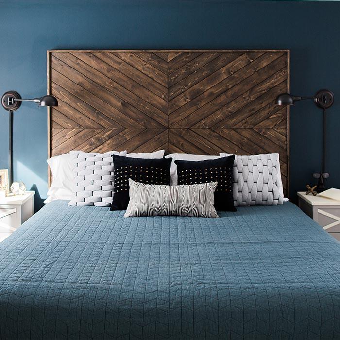 Hoofdbord ideeën houten plank