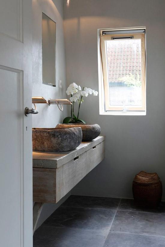 Houten badkamer meubel wooninspiratie - Rustieke badkamer meubels ...