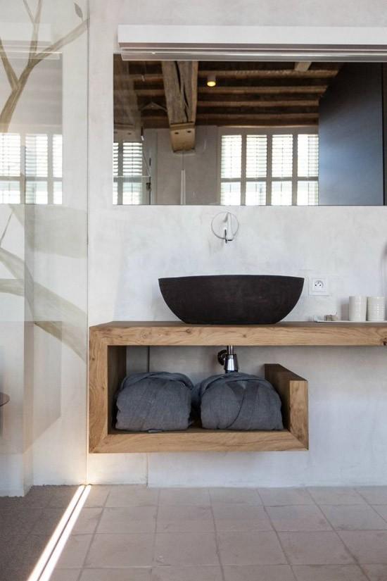 houten kolomkast badkamer – devolonter, Deco ideeën