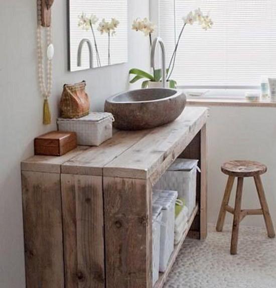 Houten badkamer meubel  Wooninspiratie
