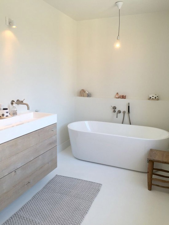 Houten badkamer meubel