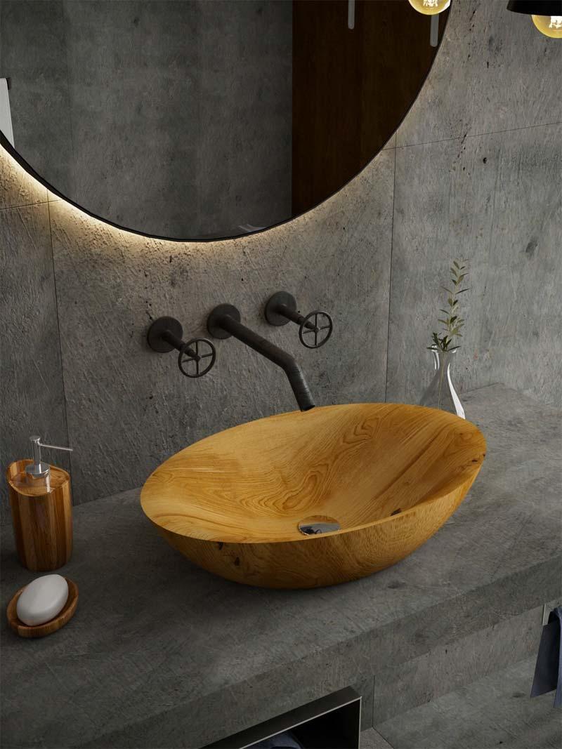 houten wastafels badkamer