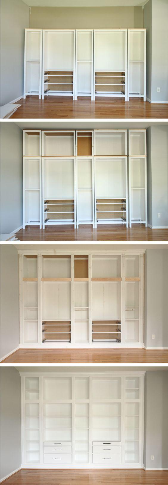Inbouwkasten Maken Met De Kasten Van Ikea Wooninspiratie