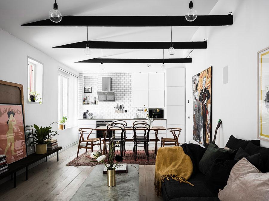 In dit kleine appartement van 52m2 vind je de leukste interieur ideeën!