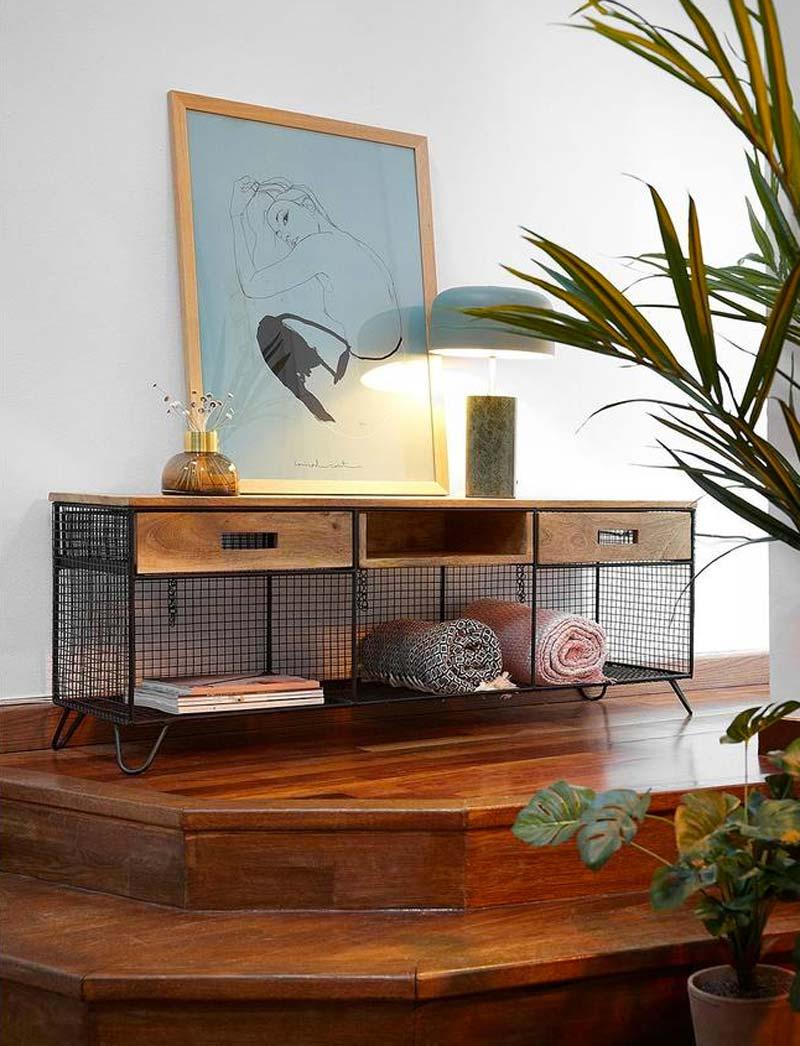 industriele tv meubel aida
