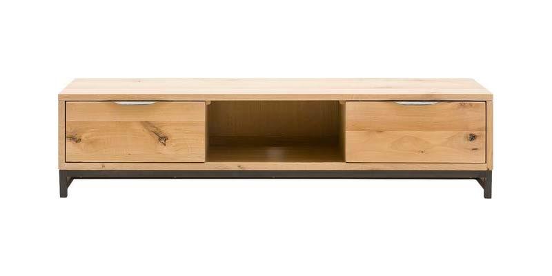 eikenhouten industriele tv meubel max