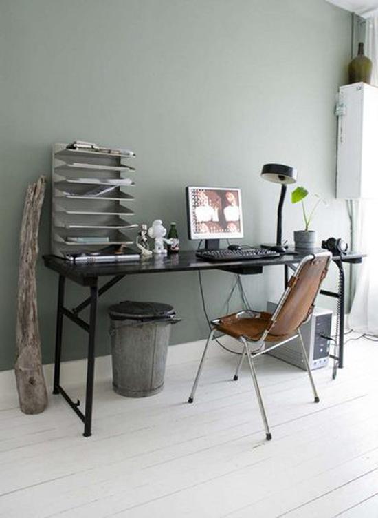 Een industri le werkplek wooninspiratie for Kleuren huiskamer