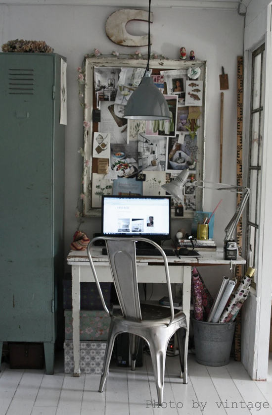 Een stoere werkplek thuis