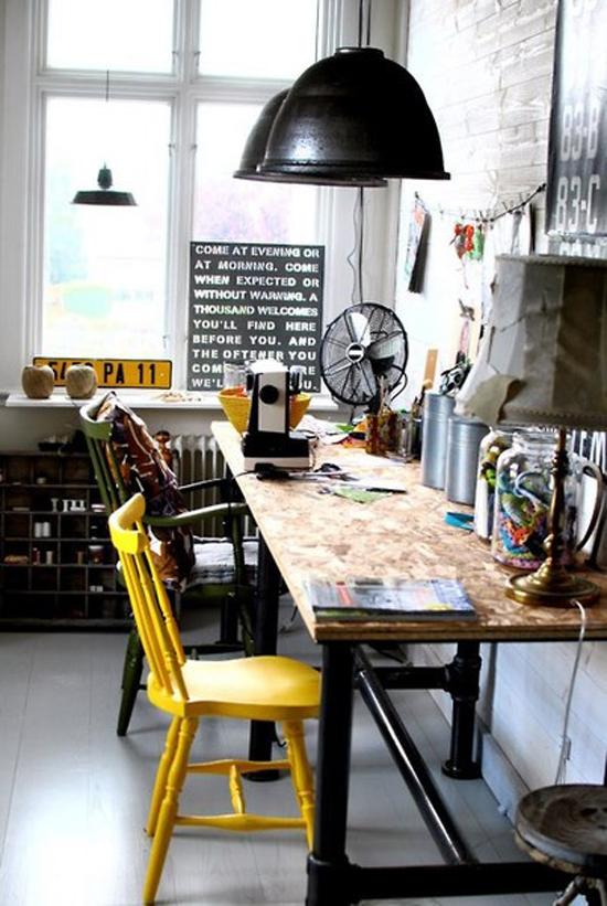 Een stoere werkplek thuis : Wooninspiratie
