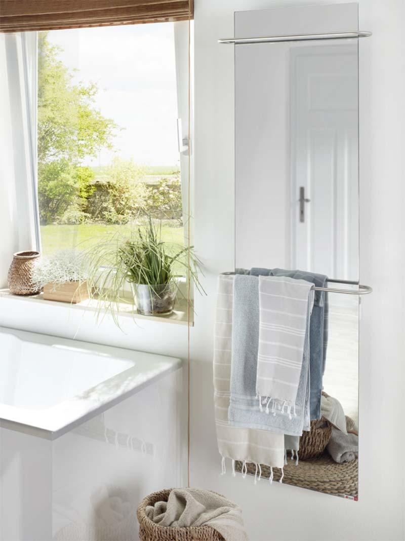 infrarood verwarming spiegel handdoekdroger badkamer