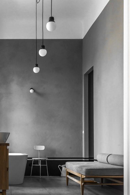Inspiratie betonlook op de muren wooninspiratie - Bijvoorbeeld vlak badkamer ...