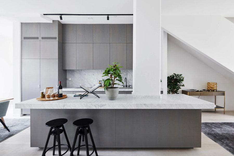 Inspirerend mooie open keuken met eiland
