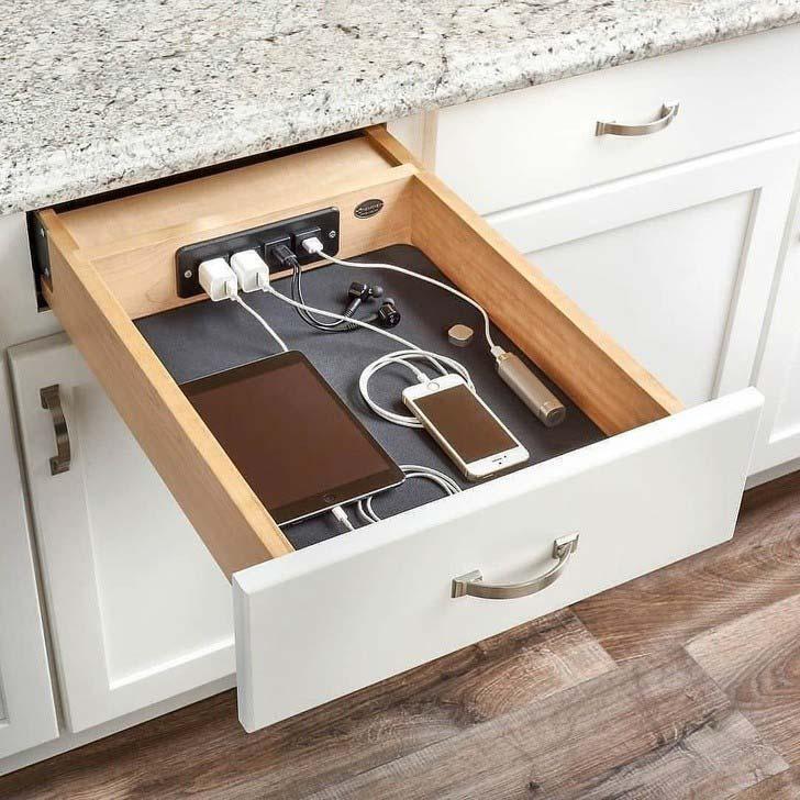 kabels wegwerken keukenlade
