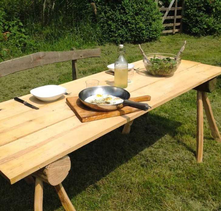 Kastanje houten tuinmeubelen