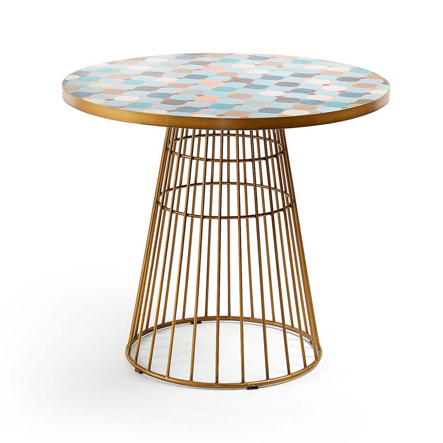 kave home ronde tafel mosaic