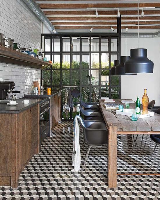 Keuken in barcelona wooninspiratie - Industriele stijl keuken ...