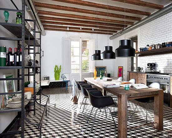 Keuken inrichting in Spaans huis