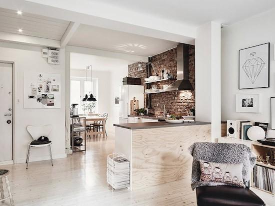 Stenen Muur Voor Woonkamer : Keuken met bakstenen muur Wooninspiratie