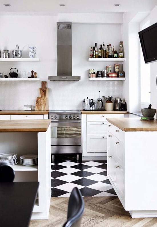 Vloer open keuken - Decoratie woonkamer met open keuken ...