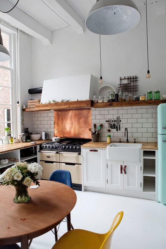 Keuken met veel hout